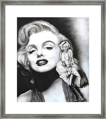 Marilyn Monroe Mural Framed Print