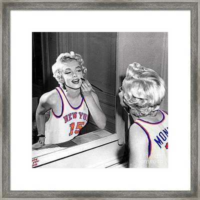 Marilyn Monroe Nyk Framed Print by Petros Graphic Design