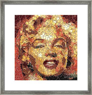 Marilyn Monroe On The Way Of Arcimboldo Framed Print by Dragica  Micki Fortuna