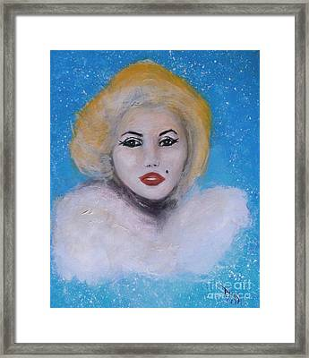 Marilyn Monroe Out Of The Blue Into The White Framed Print