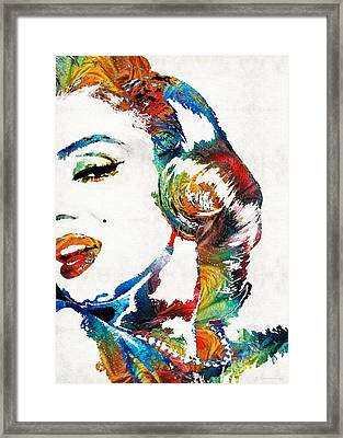 Marilyn Monroe Painting - Bombshell - By Sharon Cummings Framed Print