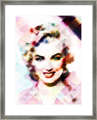 Marilyn Monroe Pastel Framed Print by EricaMaxine  Price