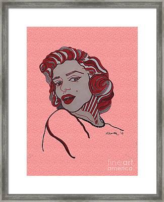Marilyn Monroe Pink Framed Print
