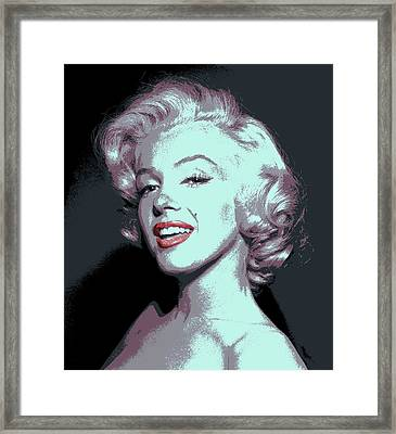 Marilyn Monroe Pop Art Framed Print by Daniel Hagerman