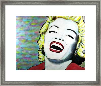 Marilyn Monroe Portrait Bright Laugh Framed Print