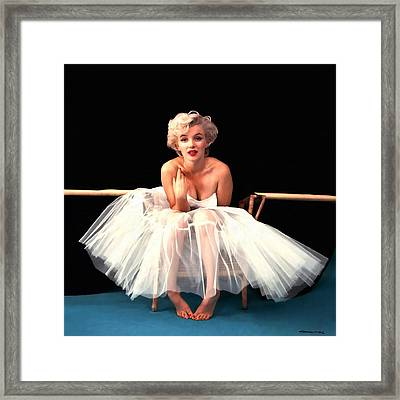 Marilyn Monroe Portrait Framed Print