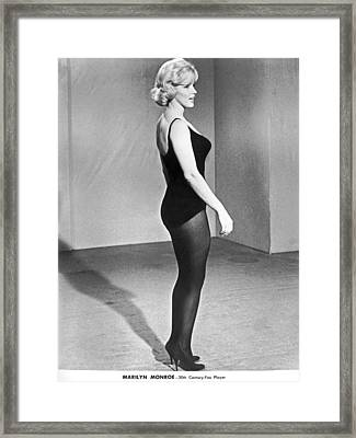 Marilyn Monroe Profile Framed Print by Underwood Archives