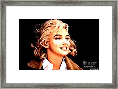 Marilyn Monroe Framed Print by Richard Dussault
