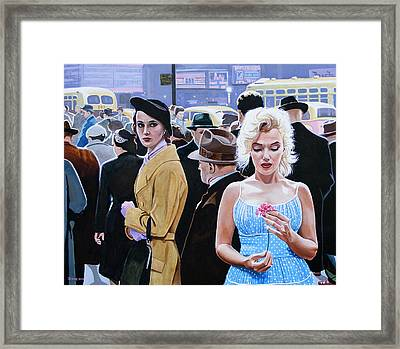Marilyn Monroe - River Of No Return Framed Print by Jo King