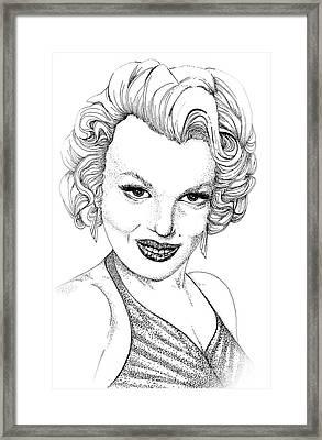 Marilyn Monroe -stipple Framed Print
