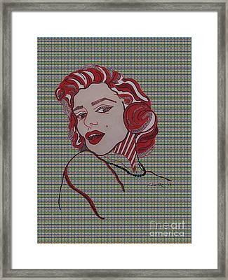 Marilyn Monroe Tartan Framed Print