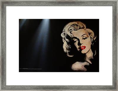 Framed Print featuring the painting Marilyn Monroe - Tmi by Eric Dee