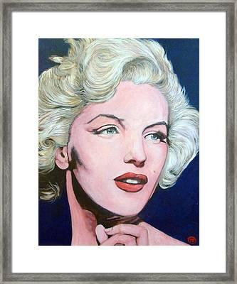 Marilyn Monroe Framed Print by Tom Roderick