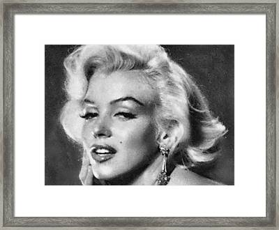 Beautiful Marilyn Monroe Unique Actress Framed Print