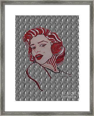 Marilyn Monroe Zebra Framed Print