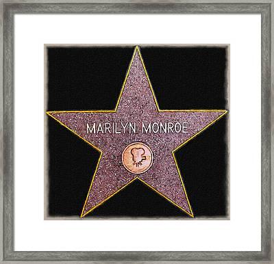 Marilyn Monroe's Star Painting  Framed Print