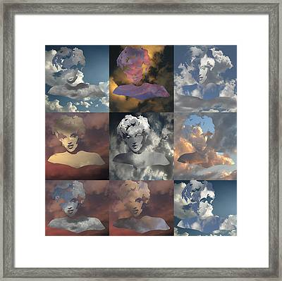 Marilyn Monrow Nine Times In The Sky Framed Print by Jim Alford