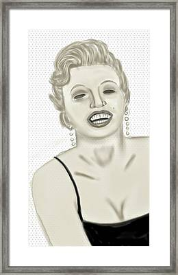 Marilyn  Framed Print by Pat Carafa
