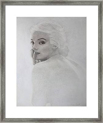 Marilyn Profile Framed Print