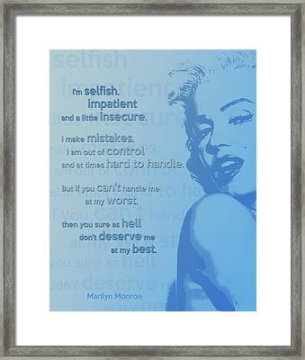 Marilyn Quote Framed Print