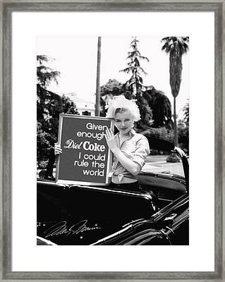 Marilyn Rules Framed Print by Paul Van Scott