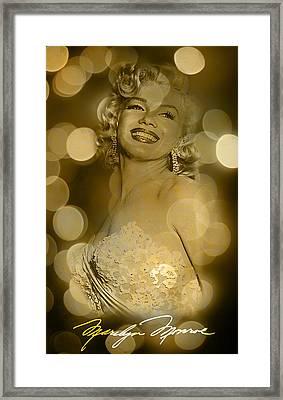 Marilyn Sparkles Framed Print
