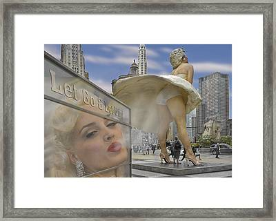 Marilyn Statue On Michigan Ave. Framed Print