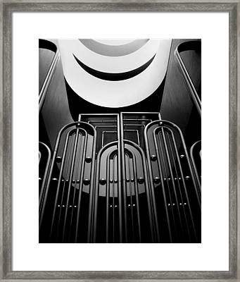 Framed Print featuring the photograph Marin County Government Complex Gate by Jeff Brunton