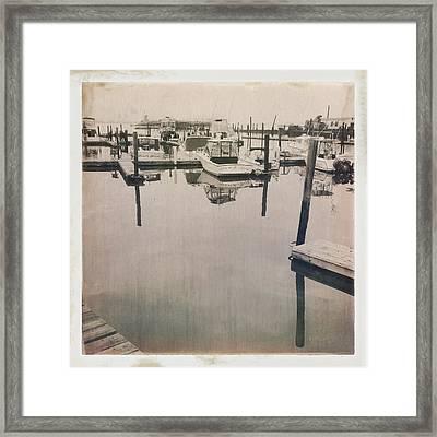 Marina 1 Framed Print by H James Hoff