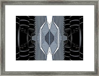 Marina Abstraction Framed Print