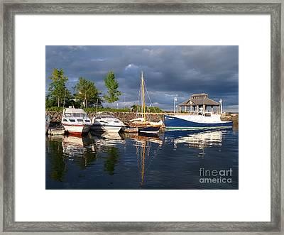 Marina At Charlottetown Prince Edward Island Framed Print