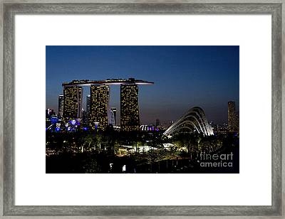 Marina Bay Skyline Framed Print