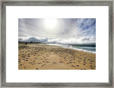 Marina Beach Walk Framed Print
