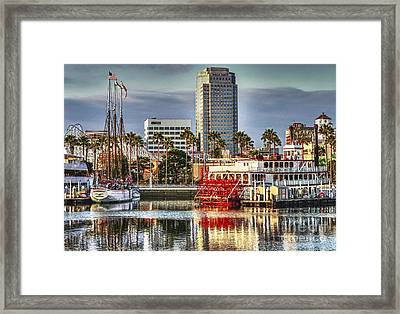 Marina Before Sunset Framed Print by Pam Vick