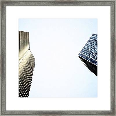 Marina Blue Bldg. & 1800 Club Bldg. - Framed Print