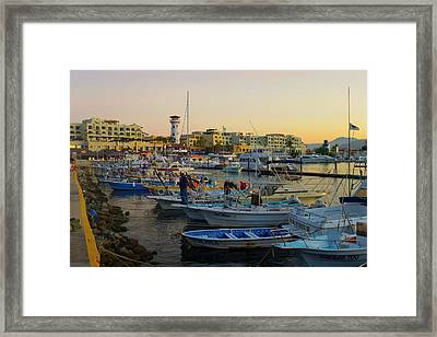 Marina, Cabo San Lucas, Baja, Mexico Framed Print