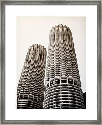 Marina City Chicago Framed Print by Julie Palencia