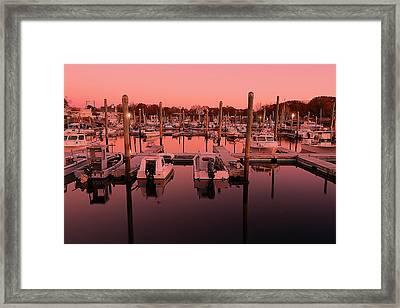 Marina Golden Hour Framed Print by Lourry Legarde