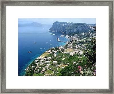 Marina Grande Anacapri Framed Print