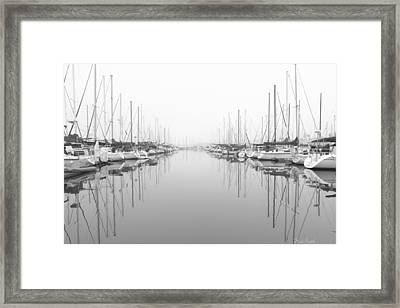Framed Print featuring the photograph Marina - High Key by Heidi Smith