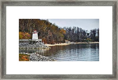 Framed Print featuring the photograph Marina Inlet by Greg Jackson