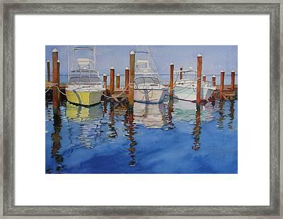 Marina Framed Print by Judy Mercer