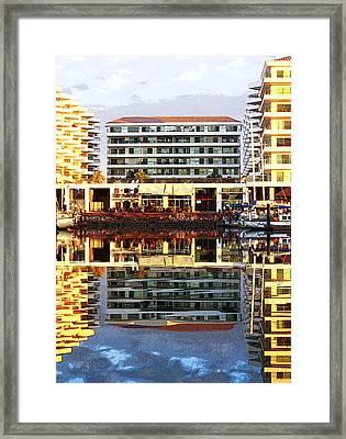 Marina Mazatlan Mirror Framed Print