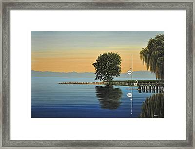 Marina Morning Framed Print by Kenneth M  Kirsch