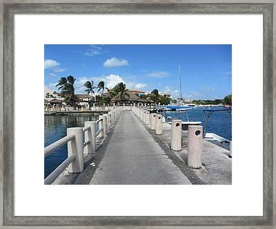 Marina Perspective Framed Print