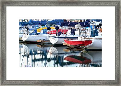 Marina Primary Colors Abstract Framed Print by Heidi Smith