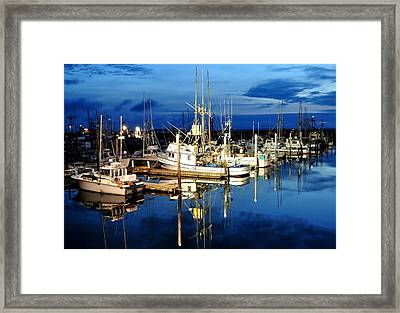 Marina Reflection Framed Print by Michael Bruce