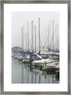 Marina Reflections Framed Print