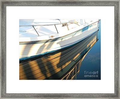 Marina Reflections Framed Print