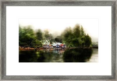Marina Retreat Framed Print